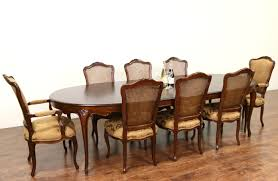 baker cherry country french dining set table 2 leaves 8 chairs new upholstery