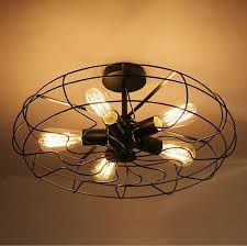 vintage industrial fan ceiling lights american country kitchen loft with regard to incredible kitchen ceiling fan