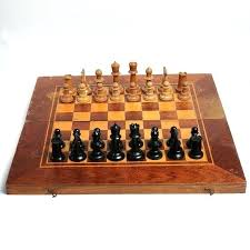vintage chess table round large wooden chessboard and backgammon