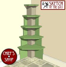 Corner Bookcase Plans Built In Corner Shelves Chiefs Shop