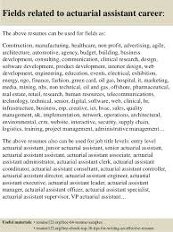 Actuary Resume Top 100 actuarial assistant resume samples 88