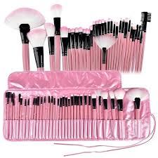 zodaca 32 piece professional makeup brushes tool set with pouch bag