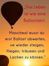 Positive Zitate Das Leben Ist Wie Eine Ballonfahrt Facebook
