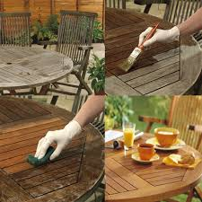 cuprinol table makeover re garden furniture