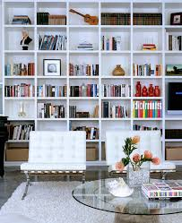 Living Room Bookcase Startling Barcelona Chair Replica Decorating Ideas For Living Room