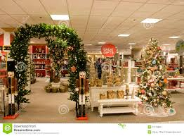 ... Lovely Department Store Christmas Decorations Cosy Holiday Stock Photos  ...