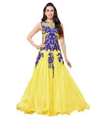 Nakshatra Designer Wear Nakshatra Designer Yellow Colour Unstiched Anarkali Dress