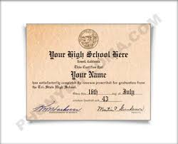 high school diploma name 1970s fake high school diploma printed with the designs you see here