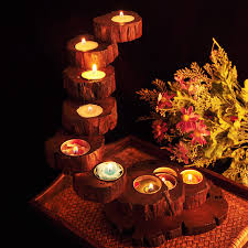 Candles Decorations Home Wedding Decoration Wood Candle Holders