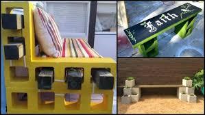 cinderblock furniture. Cinder Block Patio Furniture Concrete Cinderblock F