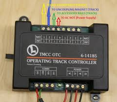 wiring a traditional operating track the otc lionel trains connect the wires to the otc as shown click picture to enlarge