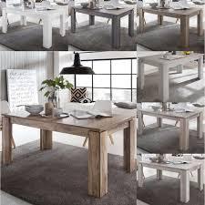 Tisch Esstisch Küchentisch Esszimmertisch Universal Ausziehbar 160 200 Cm Farbepinie Weiß Struktur