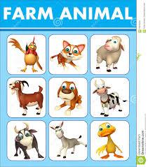 Farm Animal Chart Stock Illustration Illustration Of Chart