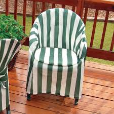 Impressive Striped Patio Chair Cover With Cushion Patio Chairs