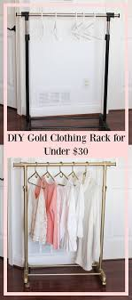 DIY gold clothing rack for UNDER $30 - garment rack - spray painted clothing
