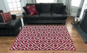 rug 7 x area rugs impressive on bedroom also red and ivory contemporary trellis design 7x10