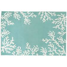 c border aqua rug indoor outdoor rug