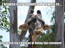 New Meme : Shameful Admission Giraffe (imgur use only) - Imgur via Relatably.com