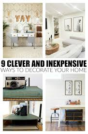clever and inexpensive ways to decorate
