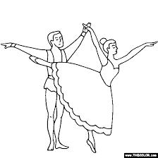 Small Picture Ballerina and Ballet Dancer Online Coloring Pages Page 1