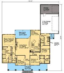 Bed French Acadian House Plan   SM   st Floor Master Suite    Floor Plan