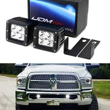2012 Ram 2500 Fog Lights Led Pod Light Fog Lamp Kit For 2009 12 Dodge Ram 2500 3500 Includes 2 20w High Power Cree Led Cubes Lower Grille Opening Area Mounting Brackets