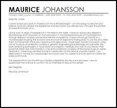 Microbiologist Cover Letter Sample