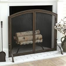bronze fireplace screen and tools uniflame screens 3 panel 10