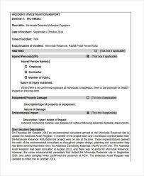 Incident Investigation Investigation Report Template
