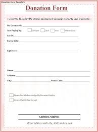 Fundraising Donation Pledge Form Template Annual Appeals