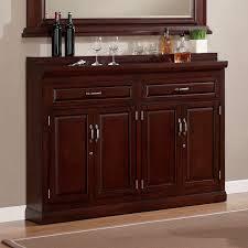 Cherry Bar Cabinet Ahb Ricardo Slimline Bar Cabinet Cherry Home Bars At Hayneedle