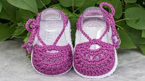 Crochet Baby Sandals Pattern Classy Crochet Baby Sandals Free Pattern YouTube