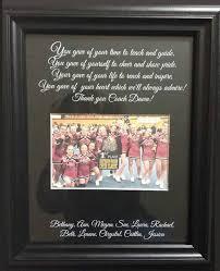 cheer coach thank you gift personalized by weddingframesbydiane