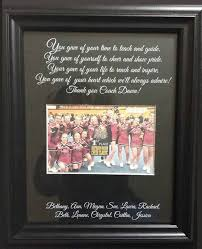 cheer coach thank you gift personalized by weddingframesbydiane