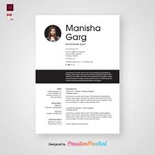 Free Resume Template In Indesign Creativepentool