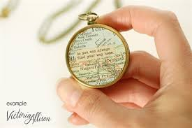 Compass Quotes Awesome Working Compass Necklace With Vintage Map And Quote So You Can