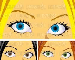 blue brown green eyes cartoon s stock ilration