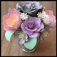 Paper Flower Arrangements Amazon Com Pastel Paper Flower Centerpiece Handmade Floral