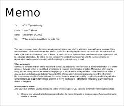 Standard Memo Format Example Cover Letter Format And Bussines