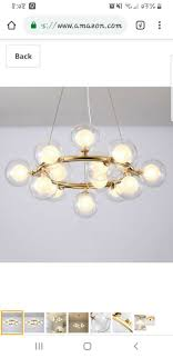 Modern Litfad Chandelier 15 Gold Light Pendant Led