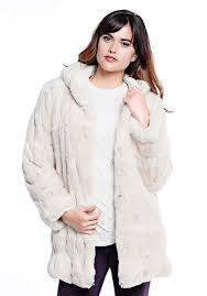 ivory mink couture hooded faux fur jacket 1