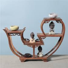 Sculpture Stands To Display Art Mesmerizing Exquisite Wooden Art Craft Teapot Shelf Exhibit Display Holder