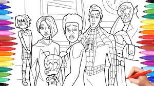 Try these spiderman coloring pages to print and enjoy coloring with your child. Spider Man Into The Spider Verse Coloring Pages How To Draw All Spiderverse Characters Youtube