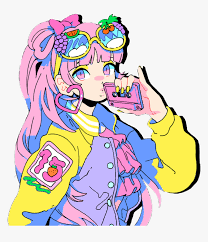 My teen romantic comedy snafu. Anime Girl Kawaii Neon Rainbow 80s Moeshop Moe Slap Love Taste Hd Png Download Transparent Png Image Pngitem