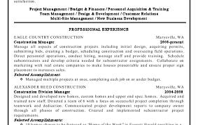 Resume Construction Project Manager Resume Horrifying Construction