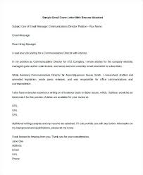Sample Email Cover Letter Resume Sample Cover Letter Sample Email
