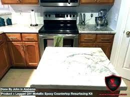 countertop refinishing kit colorful tone or resurfacing reviews kitchen