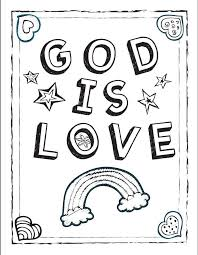 Small Picture God is Love Coloring Sheet
