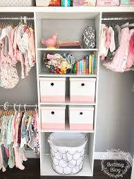 baby girl nursery tour nursery closet storage blush and batting blog