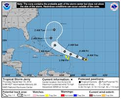Jerry almost a hurricane as Humberto heads out to sea - al.com